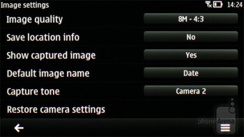 Camera interface - Nokia 701 Review