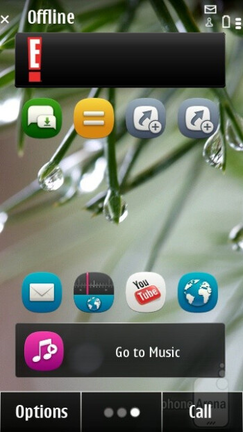 Home screens - Main menuThe UI on the Nokia 500 - Nokia 500 Review