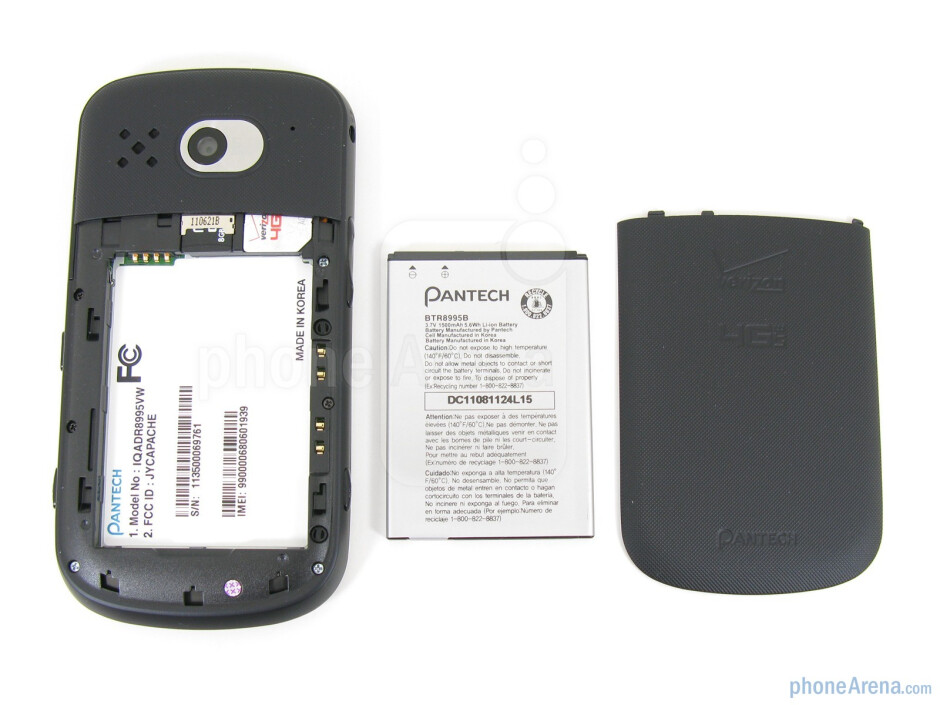 Battery and its compartment - Pantech Breakout Review