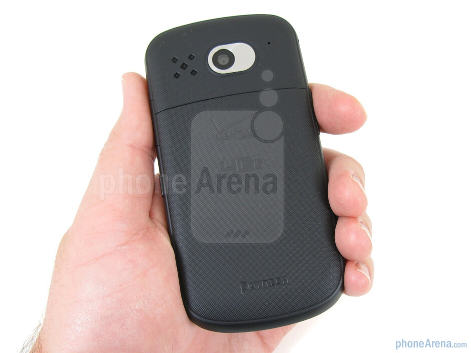 The Pantech Breakout has a texture on the back that gives it a secure feeling in your hand - Pantech Breakout Review