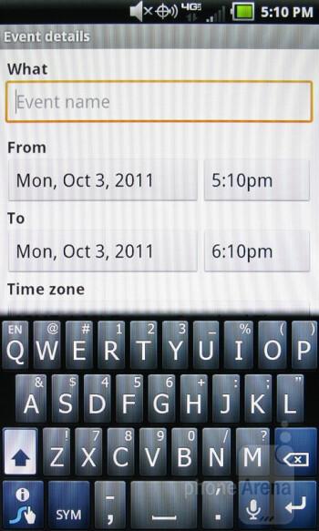 Organizer apps - Pantech Breakout Review