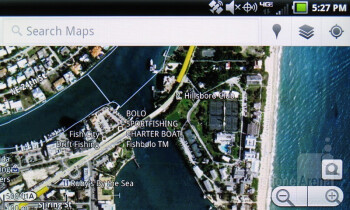 Google Maps with Navigation - Preinstalled apps on the Pantech Breakout - Pantech Breakout Review