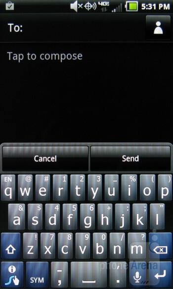 Virtual keyboard - Pantech Breakout Review