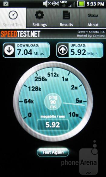 The SpeedTest.net app - Pantech Breakout Review