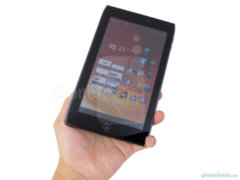 The Acer ICONIA TAB A100 presents a great feeling tough glossy plastic exterior - Acer ICONIA TAB A100 Review
