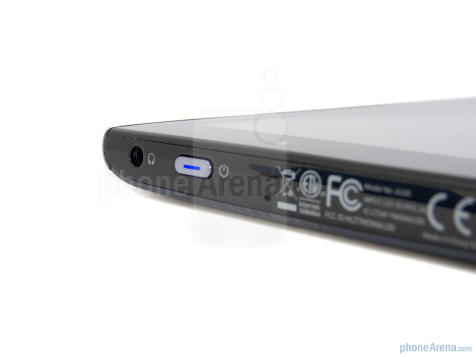 Power button - Acer ICONIA TAB A100 Review