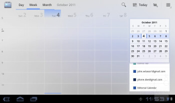 Calendar - Organizer apps - Acer ICONIA TAB A100 Review