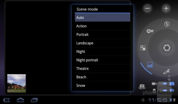 Camera interface - Acer ICONIA TAB A100 Review