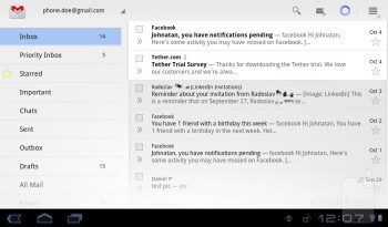Gmail app - Organizer apps - Acer ICONIA TAB A100 Review