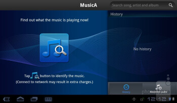 MusicA - Preloaded apps on the Acer ICONIA TAB A100 - Acer ICONIA TAB A100 Review