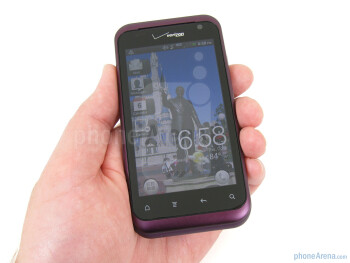 The HTC Rhyme feels well made and fits comfortably in smaller hands - HTC Rhyme Review