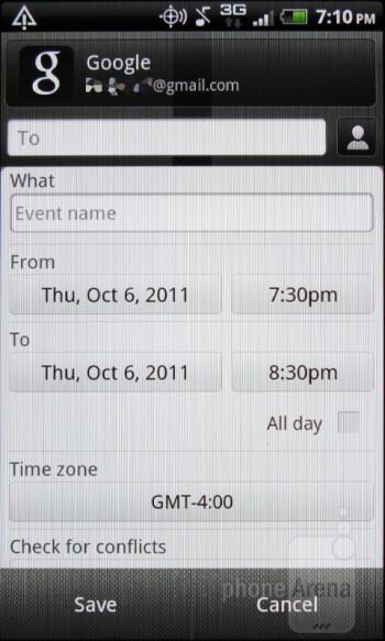 Calendar - HTC Rhyme Review
