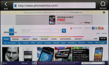 Surfing the web - HTC Rhyme Review