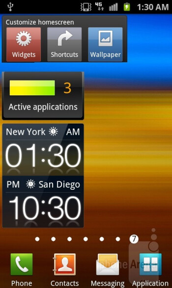 The Samsung Galaxy S II for T-Mobile features the latest version of TouchWiz running on top of Android 2.3.5 Gingerbread - Samsung Galaxy S II T-Mobile Review