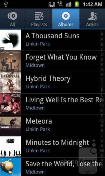 Music player - Samsung Galaxy S II T-Mobile Review